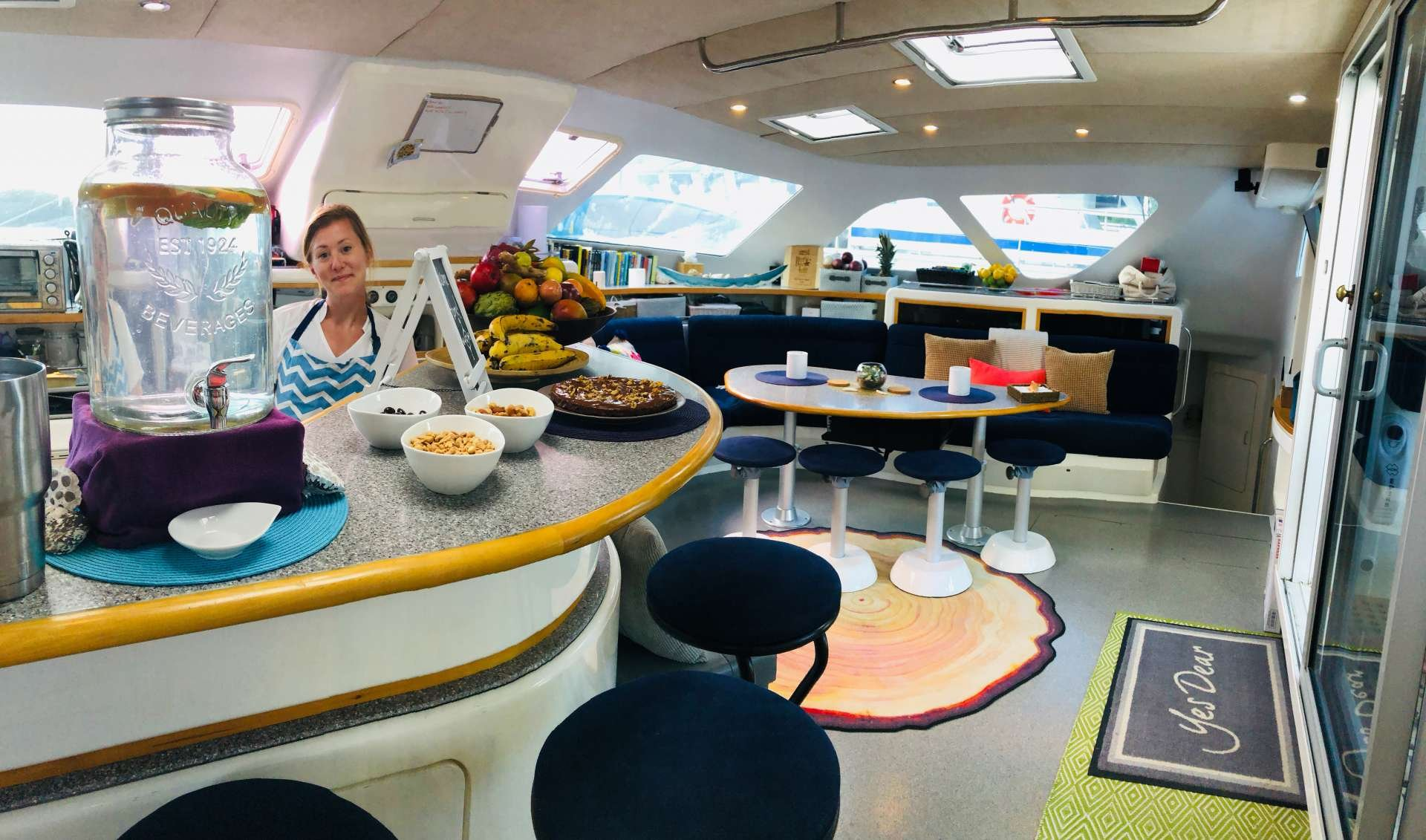 Catamaran Yacht 'YES DEAR' Spacious galley and salon, 10 PAX, 2 Crew, 58.00 Ft, 17.00 Meters, Built 2007, VOYAGE yacht, Refit Year 2012