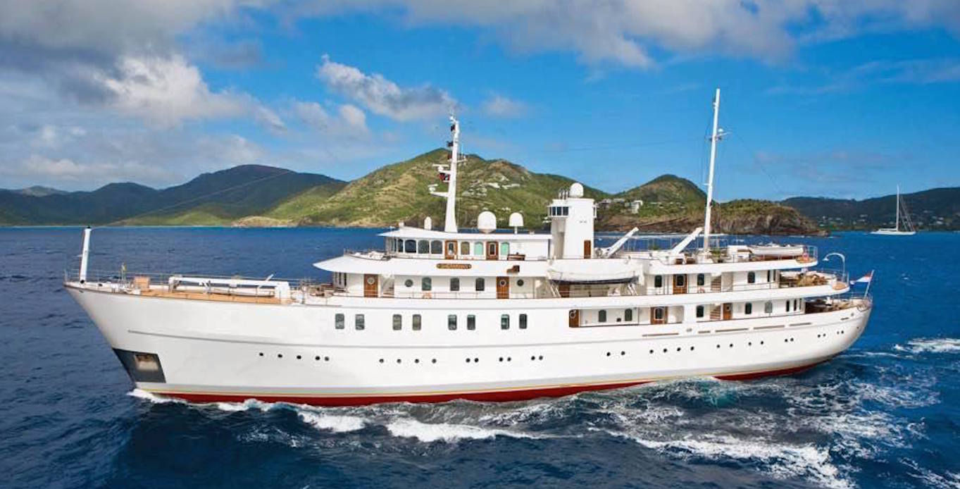 Sherakhan Caribbean Super Yacht Charter sailing through the Caribbean Islands