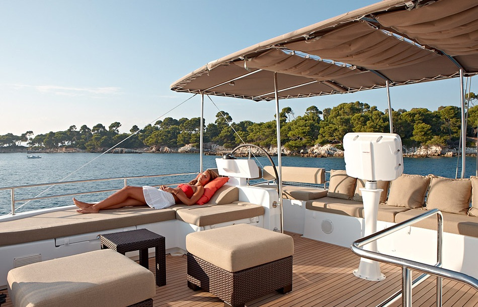 What is a Flybridge Deck on a Catamaran Charter Yacht?