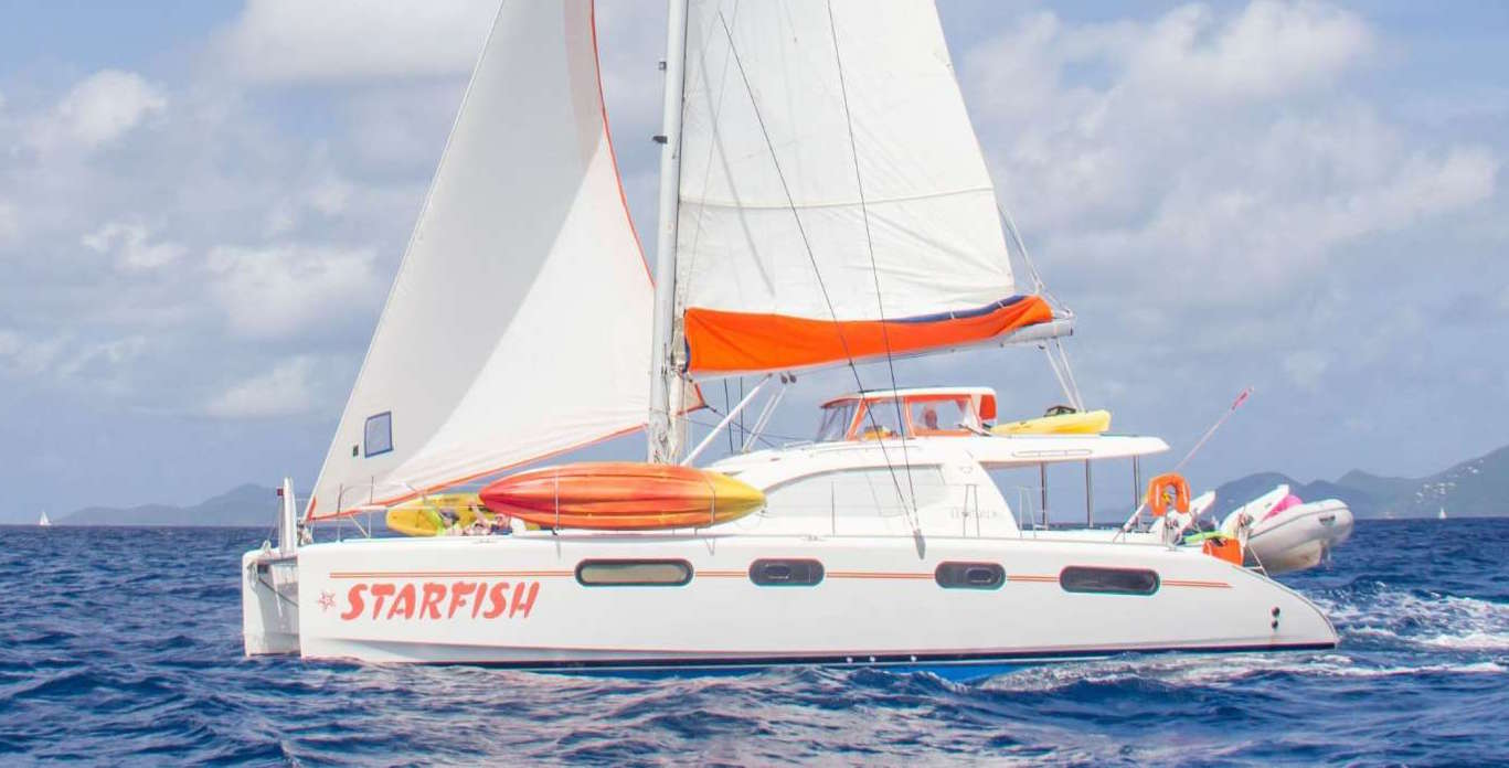 On Ocean photo of a USVI Catamaran Charter, the Starfish