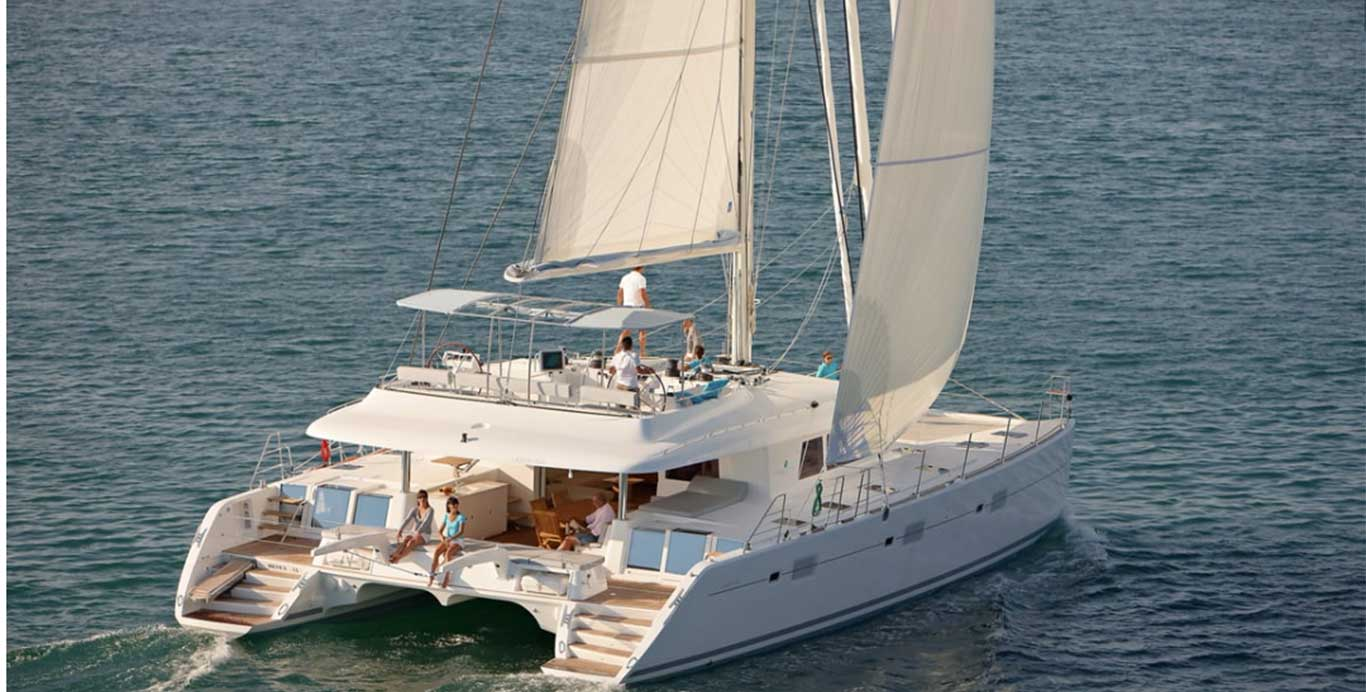 "Award Winning Charter Yacht The Lagoon 62 named ""Foxy Lady"" from the BVI Catamaran Charter Cruises the Open Waters"