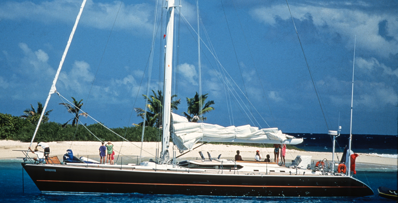 Image of a Monohull yacht charter sailing somewhere in the US Virgin Islands