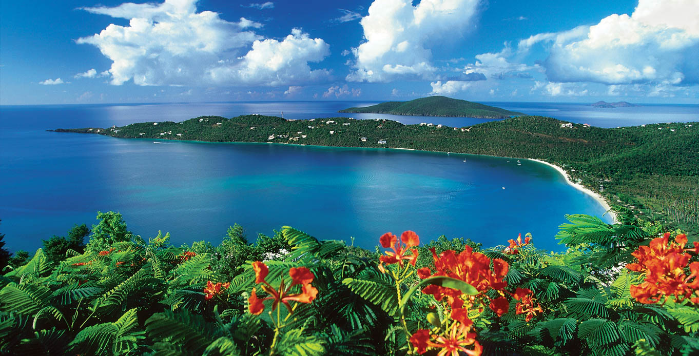 View of St. John Bay on a Yacht Charter